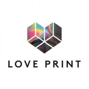 Clients. Love print logo