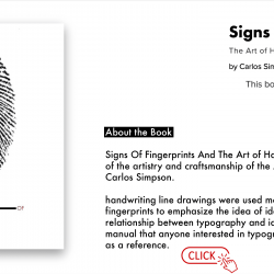 """Rich result on google when search for """"Signs of fingerprints, Carlos Simpson Design"""""""